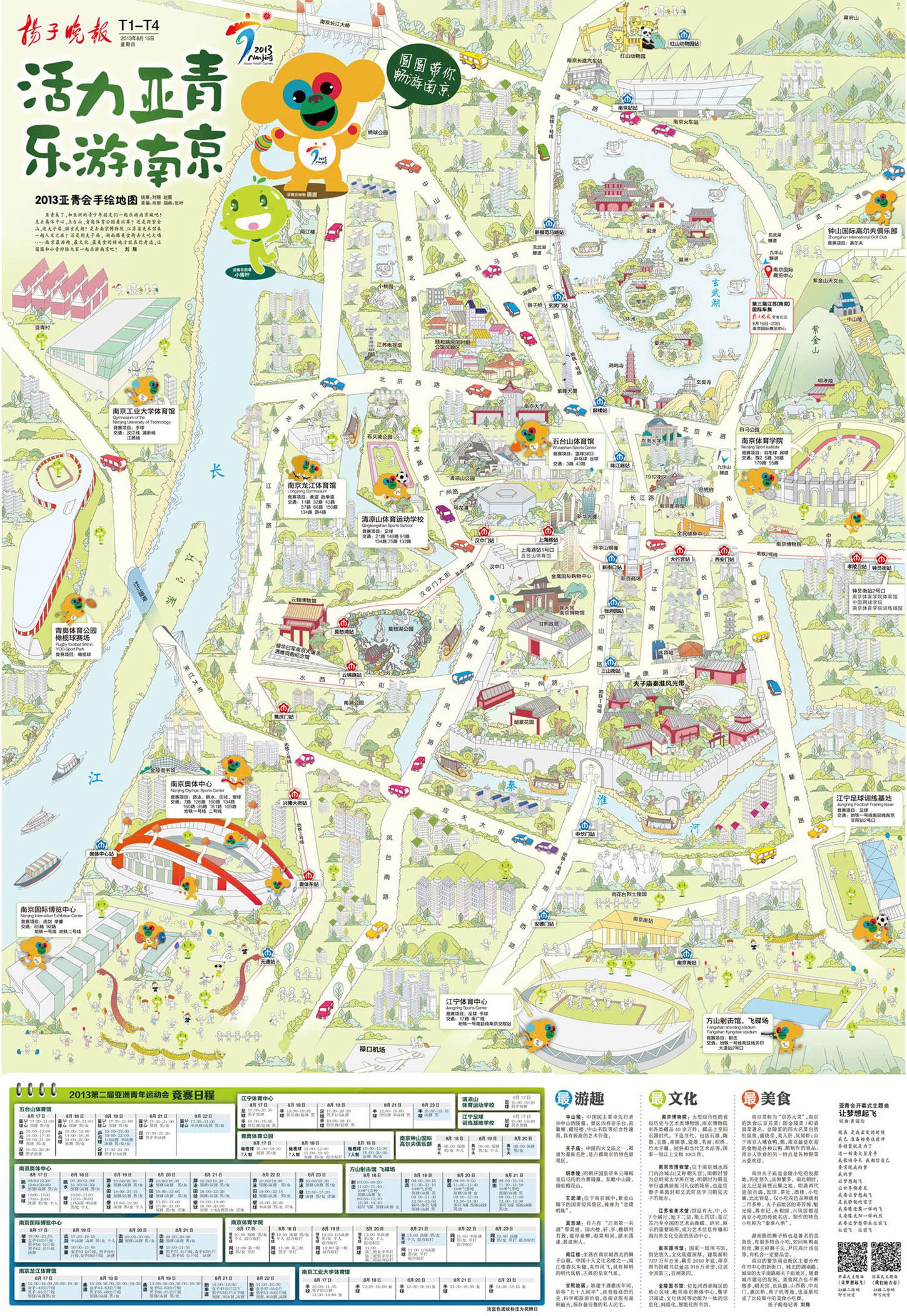 南京小吃手绘地图图片下载分享