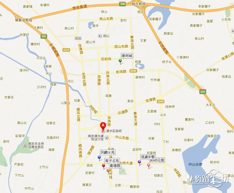 溧水城区地图