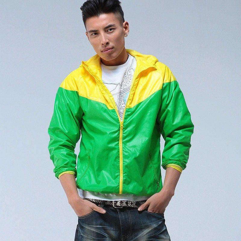 情侣 黄绿色/这款月行拼条针织puma夹克,比较适合运动而时尚的男生,它本身...