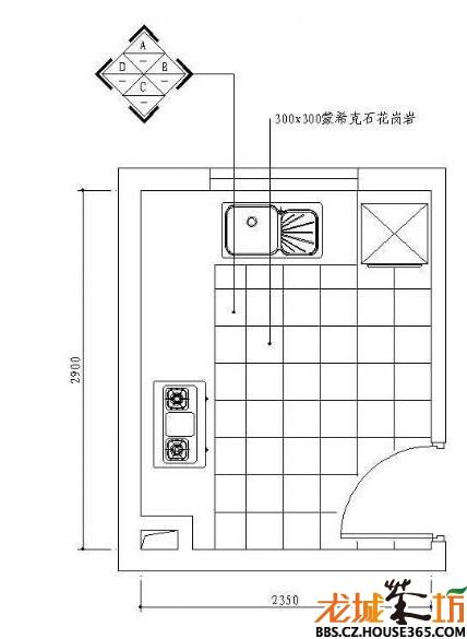 > 厨房平面布置图