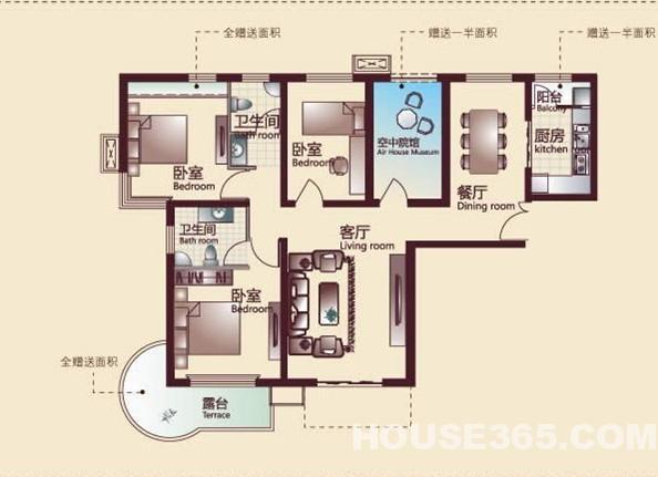 中铁国际城二期 0公摊绝版四室户型 低价急售