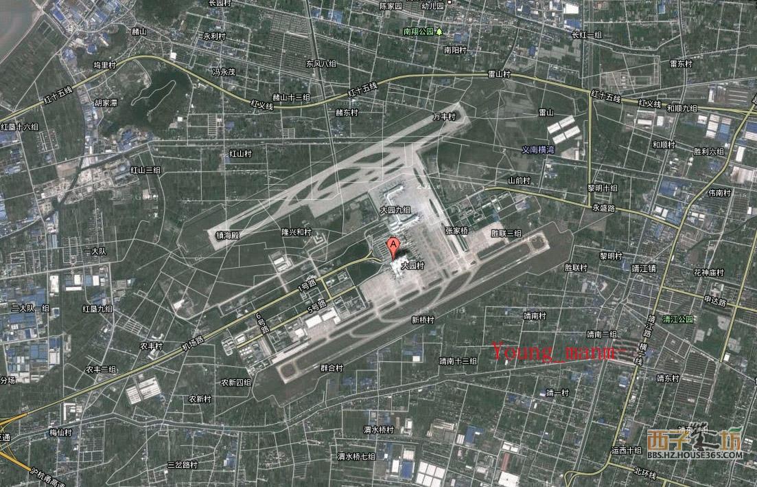 新的双跑道杭州机场