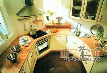 f,岛式布局,也称点式厨房平面布置.