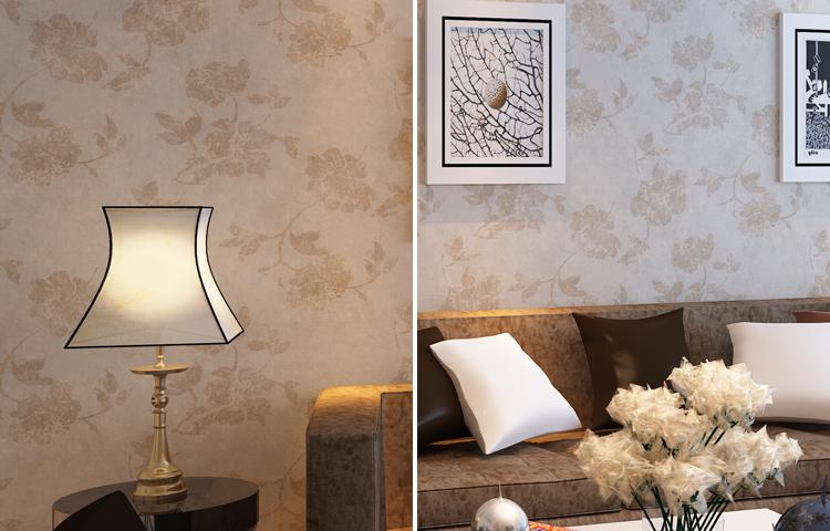 多美正欧式简约无纺布鎏金客厅卧室电视背景墙纸壁纸