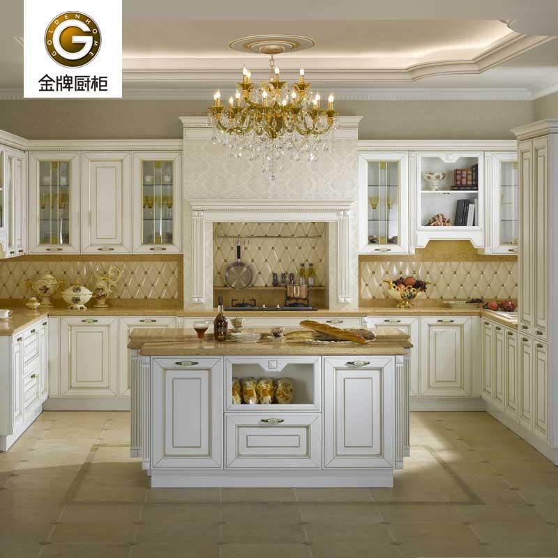 金牌厨柜 白金汉宫 实木系列欧式风格整体厨房橱柜