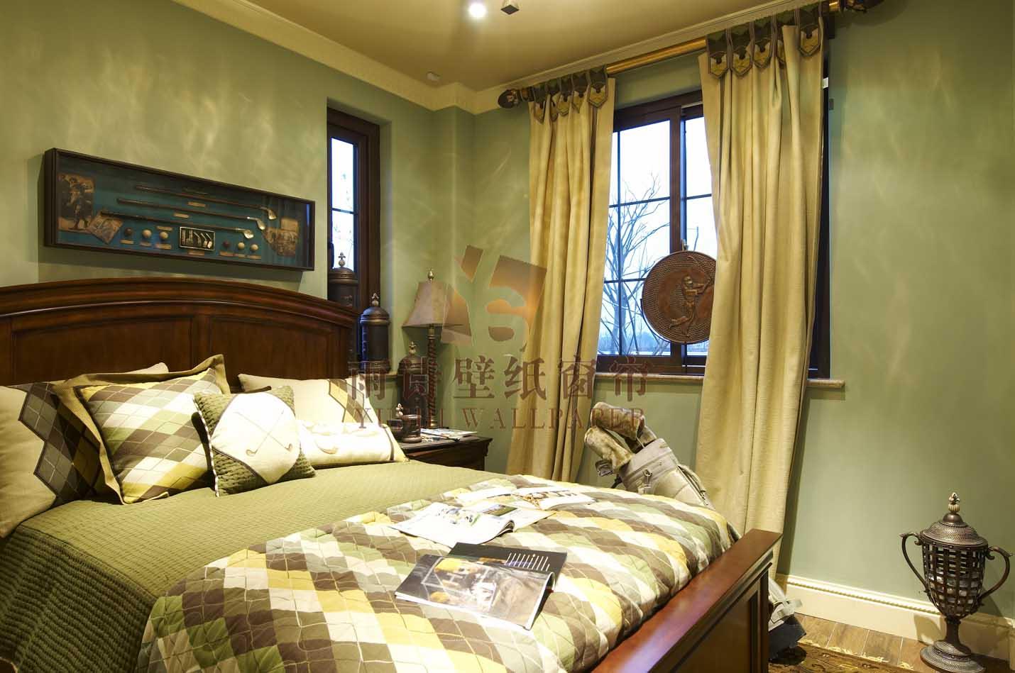 雨诗壁纸窗帘之复古风格卧室窗帘搭配-产品价格|报价