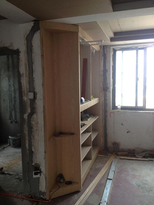 入户的玄关吊顶 石膏板叠边 高清图片