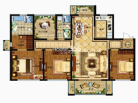 津西新天地D2户型3+1室两厅两卫 140平