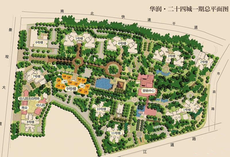 华润二十四城项目平面鸟瞰图