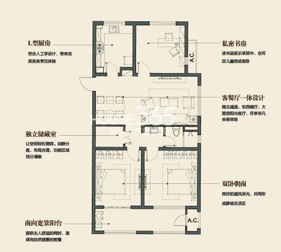 万科金域缇香122平方米户型(售空)