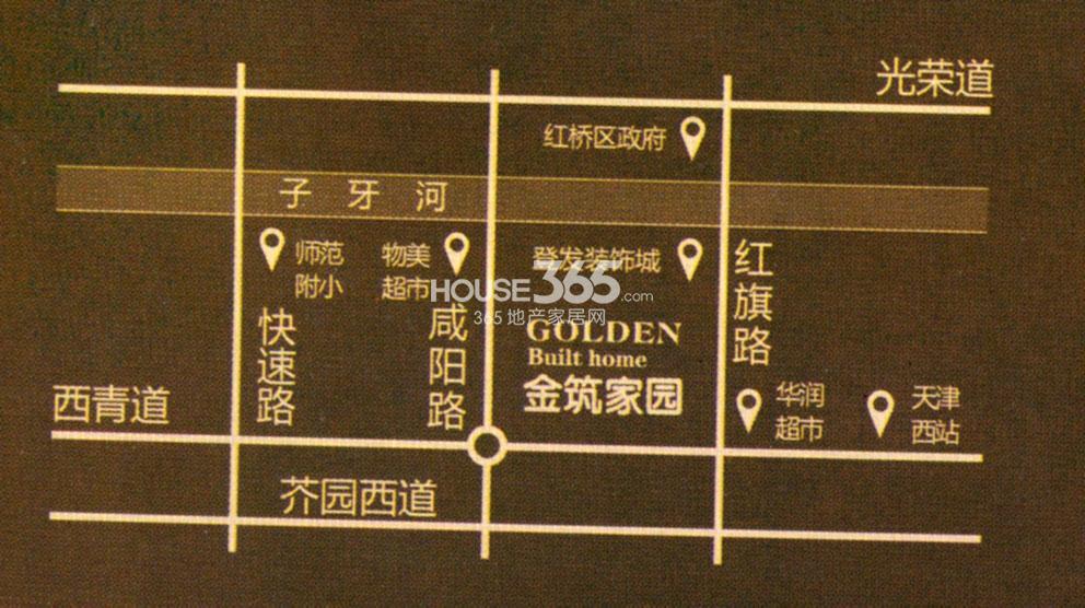 金筑家园交通图