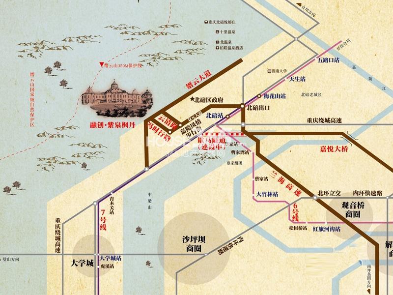 融创青岛湾琴湾地图