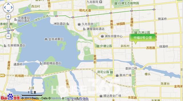 中海8号公馆区位图