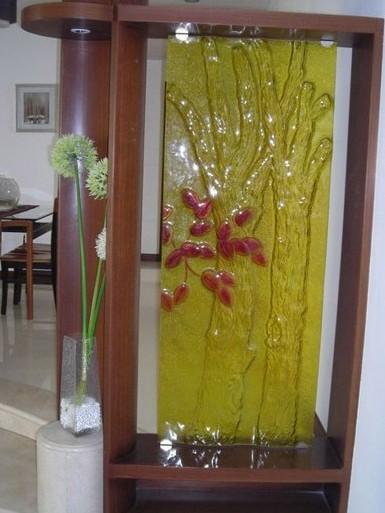 屏风隔断效果图 玄关屏风隔断效果图:树丫的设计,打造客厅高清图片