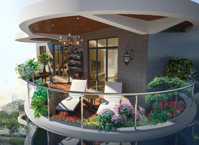 阳台小花园设计,小阳台