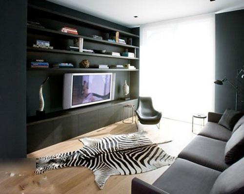 电视背景墙装修效果图 小户型专属收纳空间