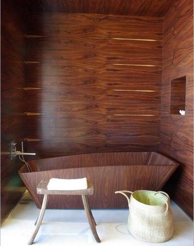 """卫生间装修效果图 特色""""木""""质设计清新自然"""