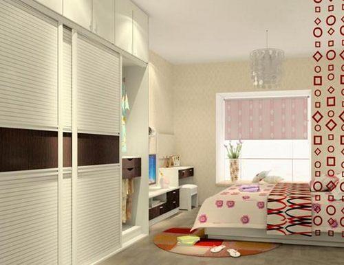 卧室衣柜效果图:现代简约白色时尚衣柜设计