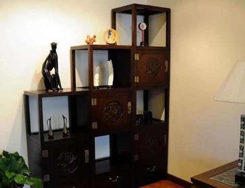 客厅博古架效果图 中式设计14例打造雅致角落