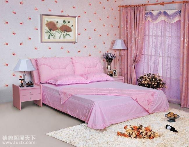 小卧室装修效果图一粉色公主房