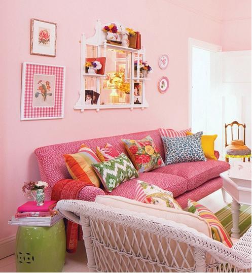 卧室刷漆粉色效果图