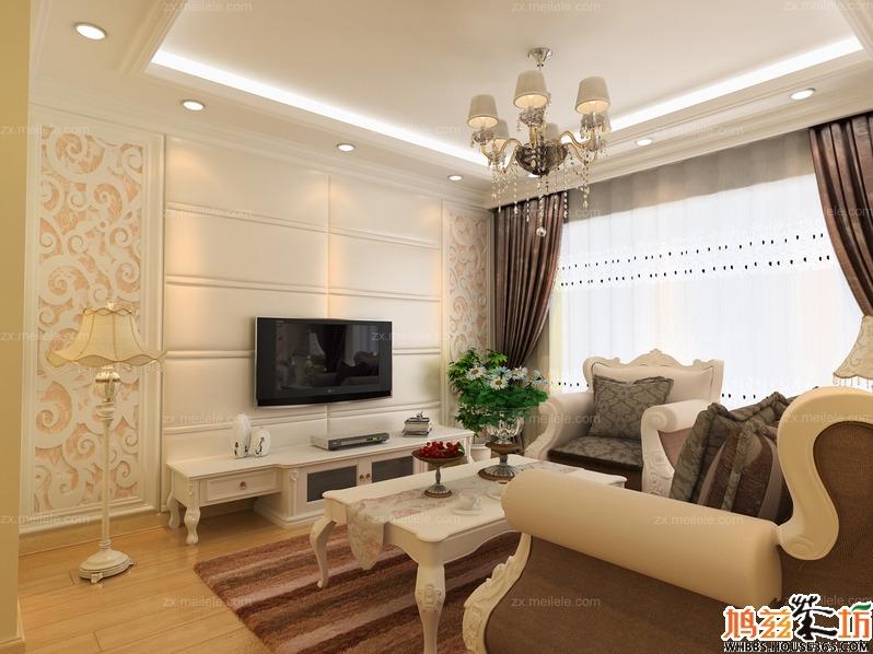 欧式风格装修90平米两室两厅美居
