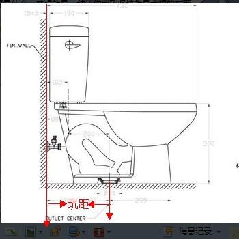 [求助]马桶坑距怎么测量的?