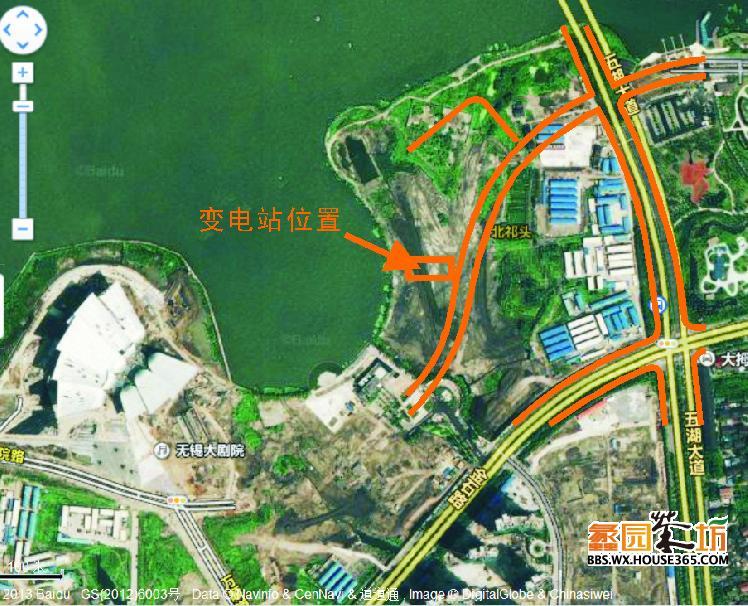4月28日110kv方桥变电站规划新地点!