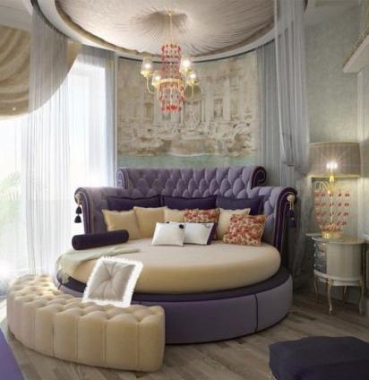 圆床卧室装修效果图,温馨浪漫由你设计~_家装大家谈