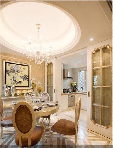厨房天花板效果图 小资的餐厅设计