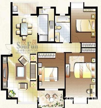 农村房三开间平面设计图展示_设计图分享