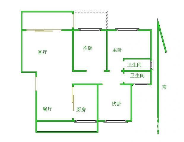 晴山蓝城 电梯房 精装3房两厅 南北通透 拎包入住!!!1