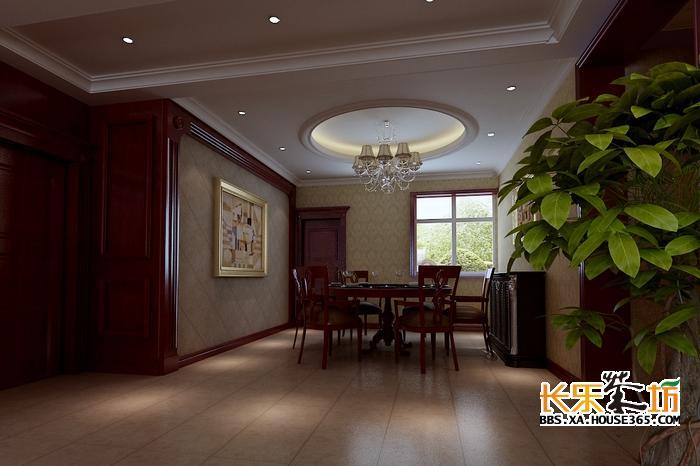 标题: 房屋装修设计图——曲江诸子阶188平米美式风格装修案例