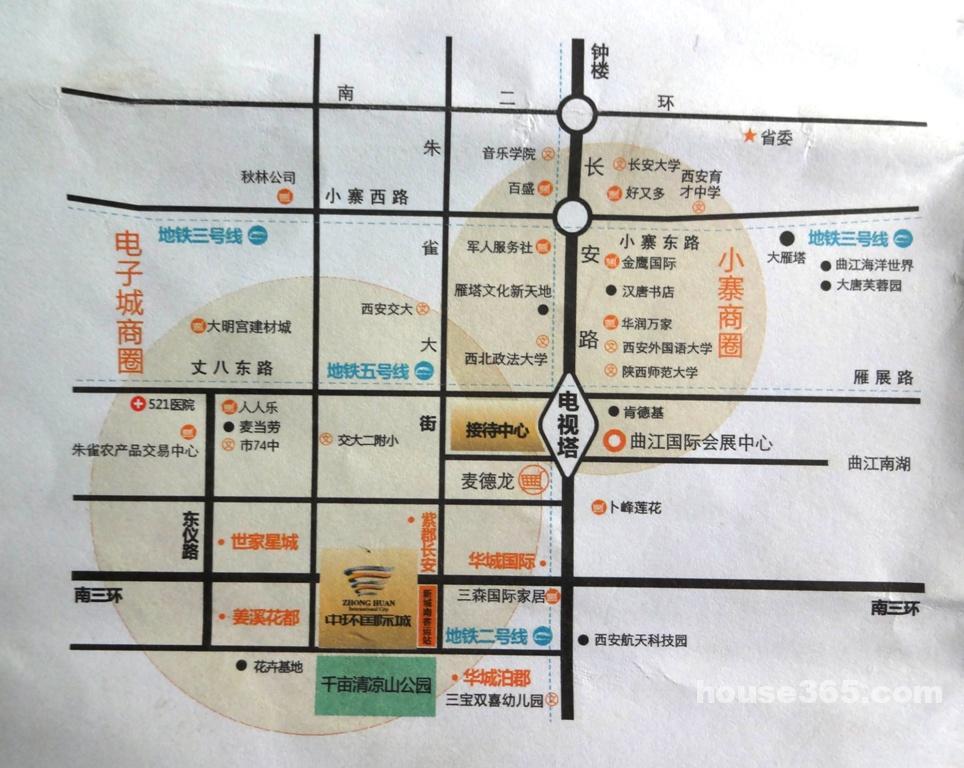 2013年 小区: 中环国际城                  (城南电视塔)[交通地图]